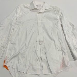 Lorenzo Uomo Men's White Button Up Dress Shirt